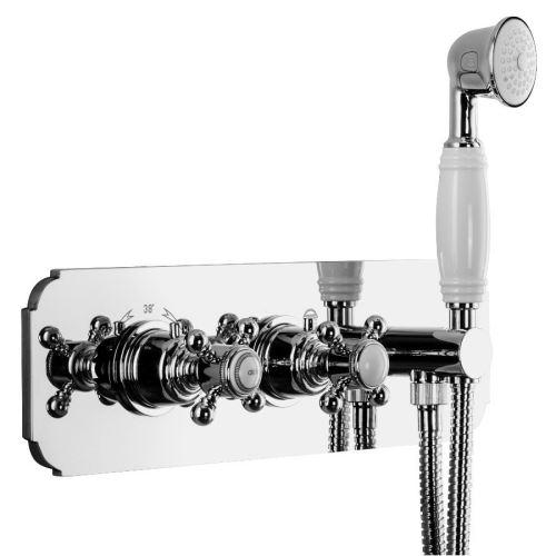 Sapho SASSARI podom. sprchová term. baterie,ruční sprcha,držák,2 cesty,chrom