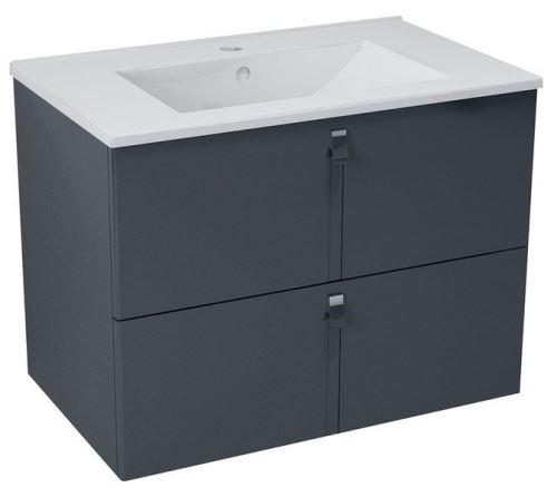 Sapho MITRA umyvadlová skříňka 74,5x55x45,2 cm, antracit