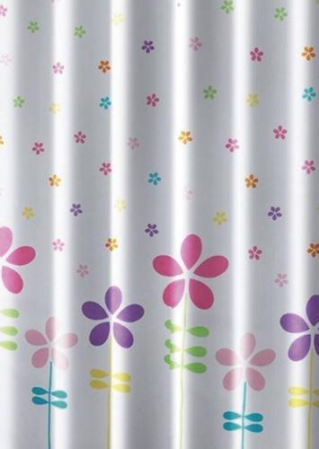 Aqualine Sprchový závěs 180x180cm, polyester, květovaný barevný