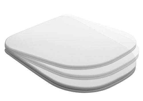 Kerasan TRIBECA WC sedátko SLIM Soft Close, duroplast, bílá