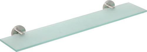 Sapho X-STEEL skleněná polička 600mm, broušená nerez