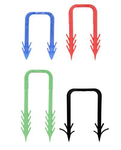 GIACOMINI W983-2 Spona pro přichycení hadic a lišt k izolaci - min. tloušťka izolace 20 mm. modrá - 40mm  (W983Y040CZ)