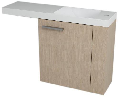 Sapho LATUS VI umyvadlová skříňka 50x50x22cm, pravá, Dub benátský