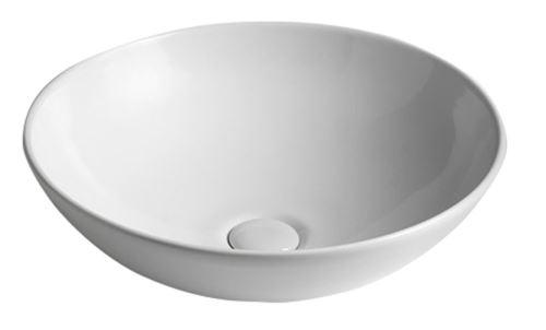 Sapho DIMP keramické umyvadlo, průměr 46 cm, na desku, bez přepadu