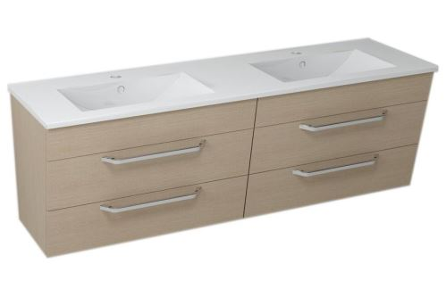Sapho KALI umyvadlová skříňka s umyvadlem 150x50x46 cm, dub benátský