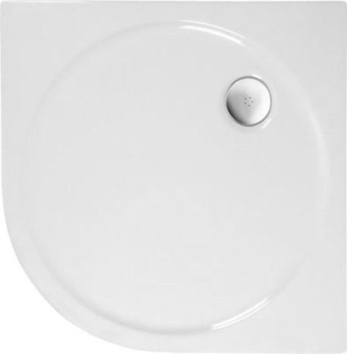 Polysan SONATA sprchová vanička akrylátová, čtvrtkruh 100x100cm, R500, bílá