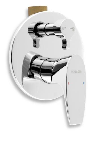 NOVASERVIS Vanová sprchová baterie s přepínačem Nobless Wat chrom (39050R,0)
