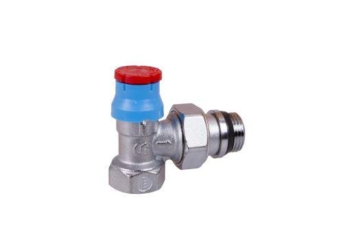 "GIACOMINI R401TG Termostatický ventil, rohový s víčkem, gumové těsnění 1/2"" (R401X133)"