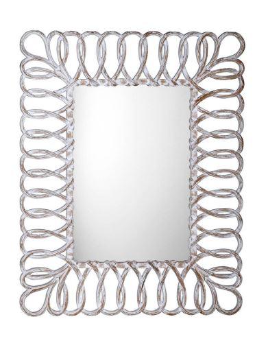 Sapho SEVILLA zrcadlo v rámu, 80x120cm, bílá