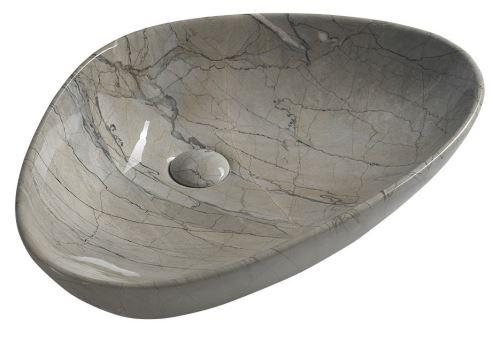 Sapho DALMA keramické umyvadlo 58,5x39x14 cm, grigio