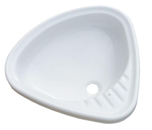 VÁGNERPLAST Akrylátové otočné umyvadlo pro bytová jádra  (VPWB5556OTU9N-01)
