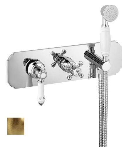 Sapho VIENNA podomítková sprchová baterie s ruční sprchou, 3 výstupy, bronz