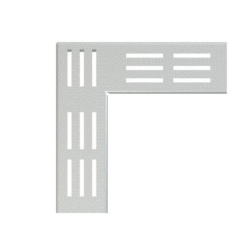ALCAPLAST Rošt pro drenážní žlab rohový 75 mm, pozinkovaná ocel (ADZ-R101R)