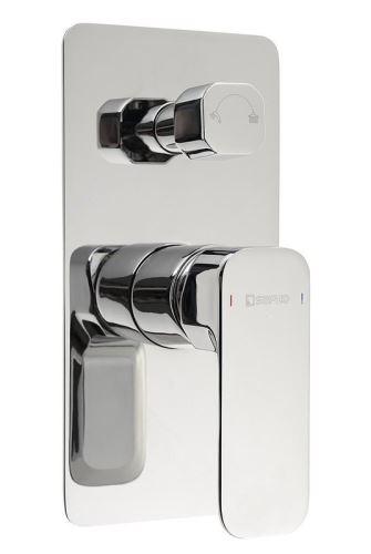 Sapho SPY podomítková sprchová baterie, 2 výstupy, otočný přepínač, chrom