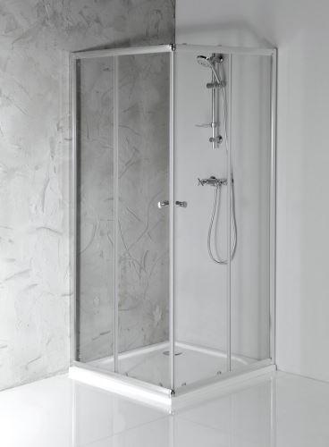 Aqualine AGGA čtvercová sprchová zástěna 900x900mm, čiré sklo