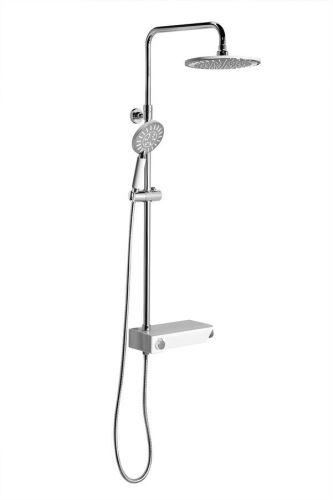 Sapho LIAM sprchový systém s termostatickou baterií a praktickou policí, chrom
