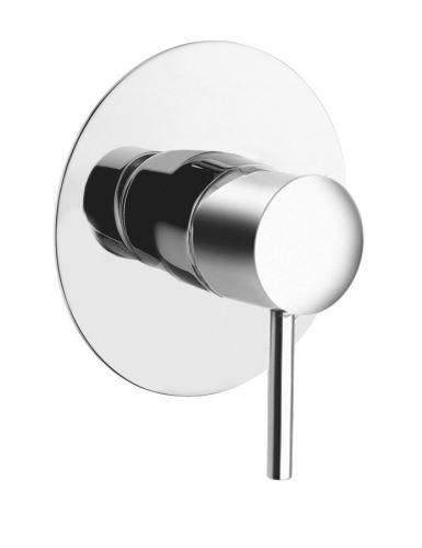 Sapho RHAPSODY podomítková sprchová baterie, 1 výstup, kulatá destička chrom