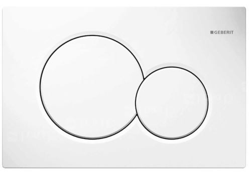 GEBERIT Ovládací tlačítko SIGMA01, pro 2 mn. splach., Alpská bílá (115.770.11.5)