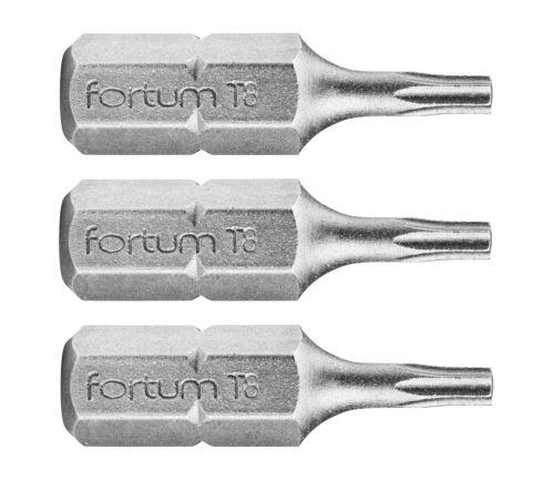 FORTUM-KITO Hrot TORX sada 3ks, T 8x25mm, S2, FORTUM-KITO, hrot TORX sada 3ks, T 8x25mm, S2, FORTUM-KITO, S2