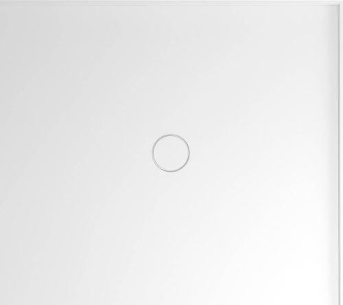 Polysan MIRAI sprchová vanička z litého mramoru, obdélník 90x80x1,8cm, pravá, bílá