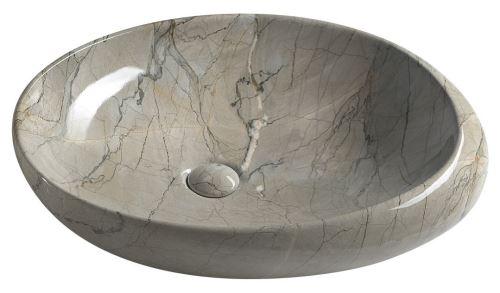 Sapho DALMA keramické umyvadlo 68x44x16,5 cm, grigio