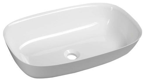 Sapho REIKO umyvadlo 60x36cm, litý mramor, bílá