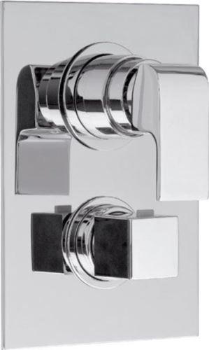 Sapho DIMY podomítková sprchová termostatická baterie, 3 výstupy, chrom