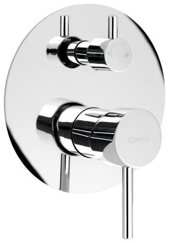 Sapho RHAPSODY podomítková sprchová baterie, 2 výstupy, otočný přepínač, chrom