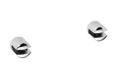 Sapho X-ROUND pár malých držáků poličky bez skla, 8 mm, chrom