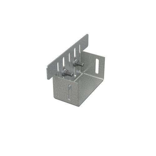 ALCAPLAST Koncovka drenážního žlabu 100 mm, pozinkovaná ocel (ADZ-P004)