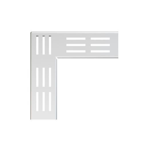 ALCAPLAST Rošt pro drenážní žlab rohový 100 mm, nerez (ADZ-R321R)