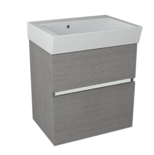 Sapho LARGO umyvadlová skříňka 59x60x41cm, dub stříbrný