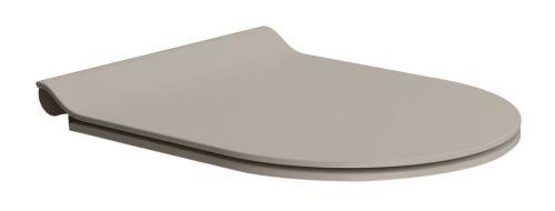 GSI WC sedátko SLIM soft close, duroplast, tortora mat/chrom