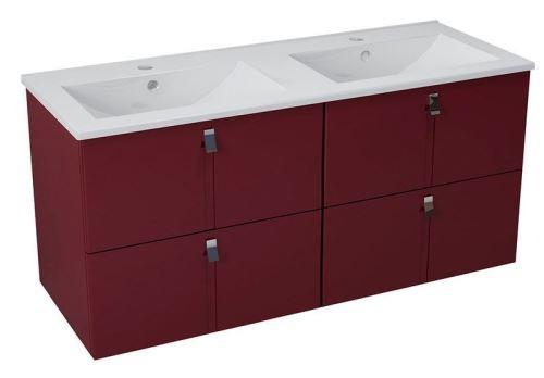 Sapho MITRA umyvadlová skříňka s umyvadlem 150x55x46 cm, bordó