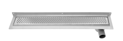 Aqualine KROKUS nerezový sprchový kanálek s roštem, ke zdi, 760x122x92 mm