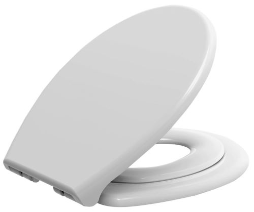 Aqualine WC sedátko s integrovaným dětským sedátkem, soft close. polypropylen, bílá