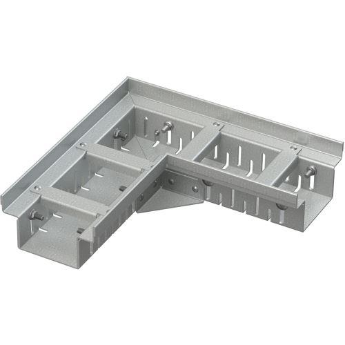 ALCAPLAST Drenážní žlab rohový 100 mm nastavitelný, pozinkovaná ocel (ADZ102VR)