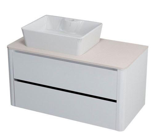 Sapho LUCIE umyvadlová skříňka pro Rockstone desku 89,5x45x44,5cm, bílá