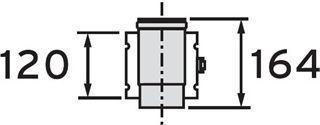 VAILLANT Oddělovací prvek, 80/125 mm (303215)