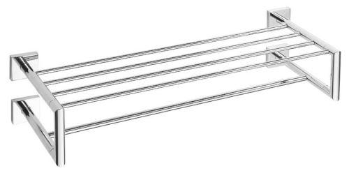 Sapho X-SQUARE polička na ručníky dvojitá s hrazdou 650x155x255mm, chrom