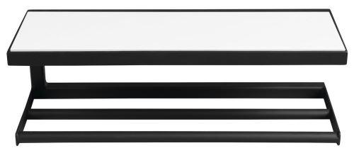 Sapho SKA nástěnná police 450x140x160mm, černá mat s bílou MDF deskou
