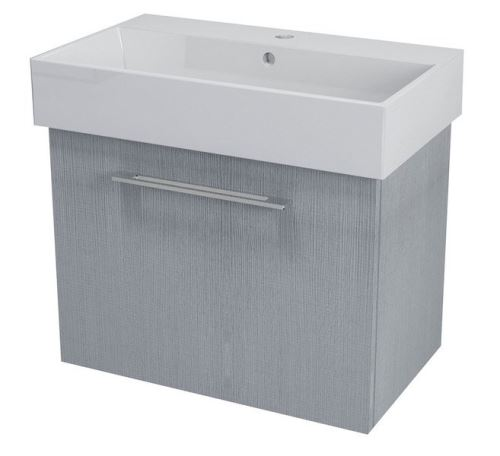 SAPHO NATY umyvadlová skříňka 66,5x50x40cm,dub stříbrný (NA073)