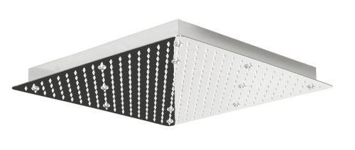 Lorema SLIM hlavová sprcha s RGB LED osvětlením, čtverec 300x300 mm, nerez