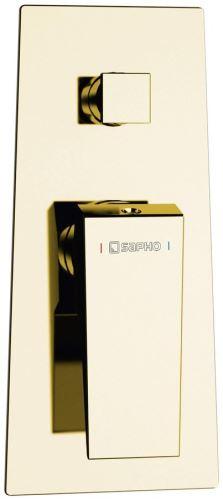 Sapho MORADA podomítková sprchová baterie, 2 výstupy, zlato