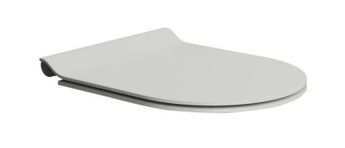 GSI WC sedátko SLIM soft close, duroplast, cenere mat/chrom
