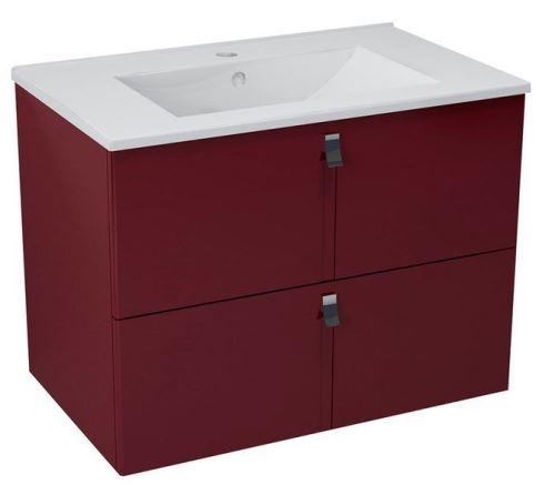 Sapho MITRA umyvadlová skříňka 74,5x55x45,2 cm, bordó