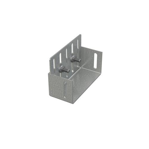 ALCAPLAST Koncovka drenážního žlabu 75 mm, pozinkovaná ocel (ADZ-P003)