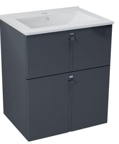Sapho MITRA umyvadlová skříňka 59,5x70x45,2 cm, antracit