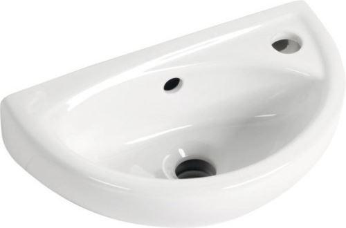 Aqualine OVAL keramické umývátko 39x23cm