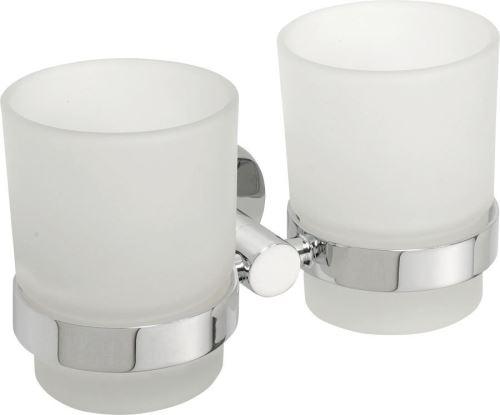 Sapho X-ROUND dvojitý držák skleniček, chrom